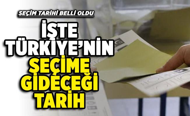 Cumhurbaşkanı Erdoğan seçim tarihinin belli olduğunu duyurdu! İşte Türkiye'nin seçime gideceği tarih