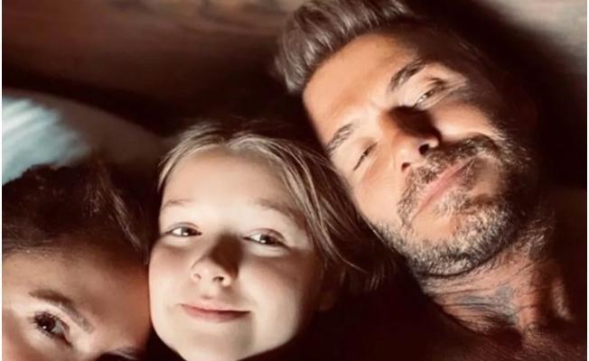 David Beckham kızını dudağından öptü! Sosyal medyada tepkiler çığ gibi büyüdü!