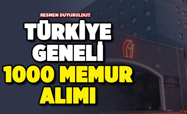 Gelir İdaresi Başkanlığı (GİB) Türkiye geneli 1000 memur alımı yapıyor