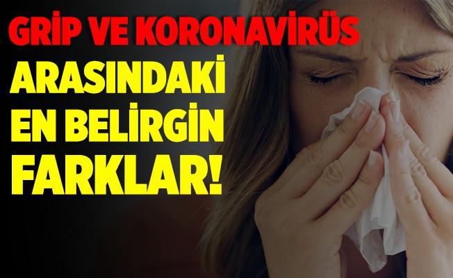 Grip ve koronavirüs arasındaki en belirgin farklar! Grip ve koronavirüs nasıl ayırt edilir?