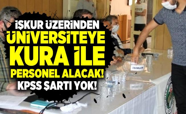 İŞKUR üzerinden Ankara Üniversitesi  kura ile personel alacak! KPSS şartı yok!