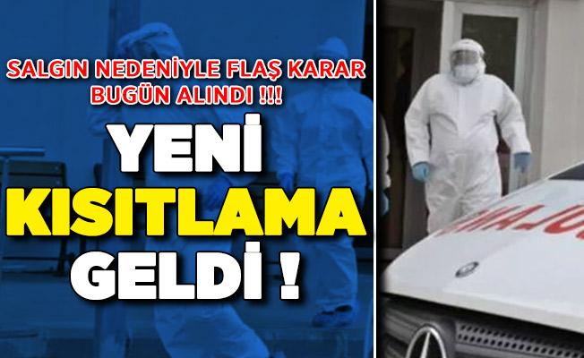 İstanbul'da Corona Virüsü Nedeniyle Yeni Kısıtlama