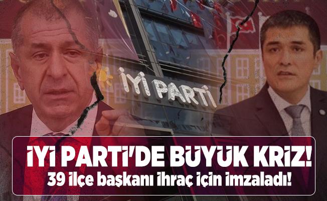 İYİ Parti'de büyük kriz! 39 ilçe başkanı ihraç için imzaladı!