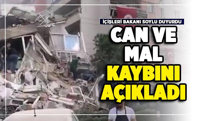 İzmir'de 6,6 şiddetinde deprem oldu! Bakan Soylu can ve mal kaybı açıklaması