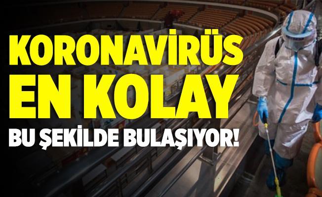 Koronavirüs en kolay bu şekilde bulaşıyor!