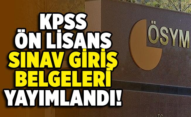 KPSS ön lisans sınav giriş belgeleri ÖSYM tarafından erişime açıldı