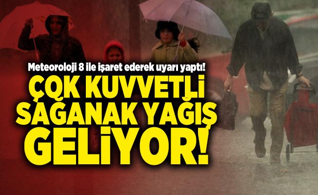 Meteoroloji 8 ile işaret ederek uyarı yaptı! Çok kuvvetli sağanak yağış geliyor!