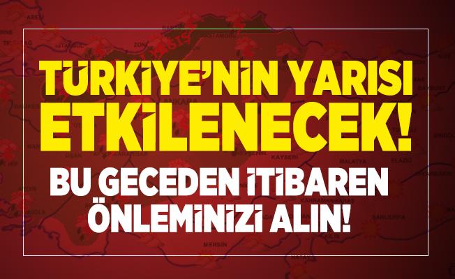 Meteoroloji Türkiye'yi etkisini alacak sağanak yağış uyarısı yaptı! Bu geceden itibaren önleminizi alın