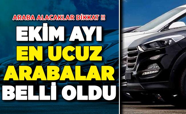 ÖTV Zammı Kapsamında Ekim Ayı En Ucuz Arabalar Belli Oldu