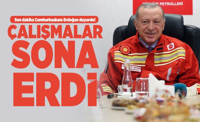 Son dakika Cumhurbaşkanı Erdoğan duyurdu! Çalışmalar sona erdi