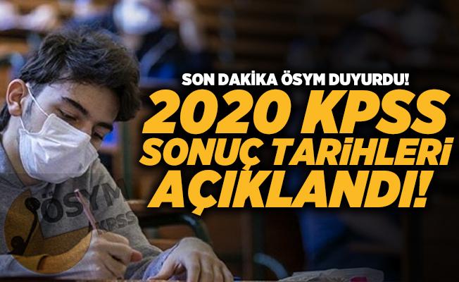Son dakika ÖSYM duyurdu! 2020 KPSS Sonuç tarihleri açıklandı! KPSS sonuçları ne zaman açıklanacak?