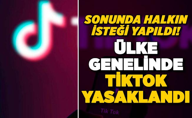 Sosyal medya devi TikTok hakkında flaş karar! Ülke genelinde yasaklandı