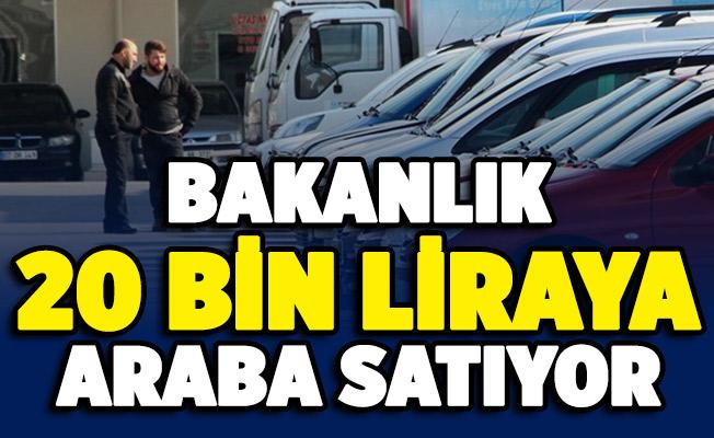 Ticaret Bakanlığı otomobil satışı yapıyor! Fiyatlar 20 bin liradan başlıyor