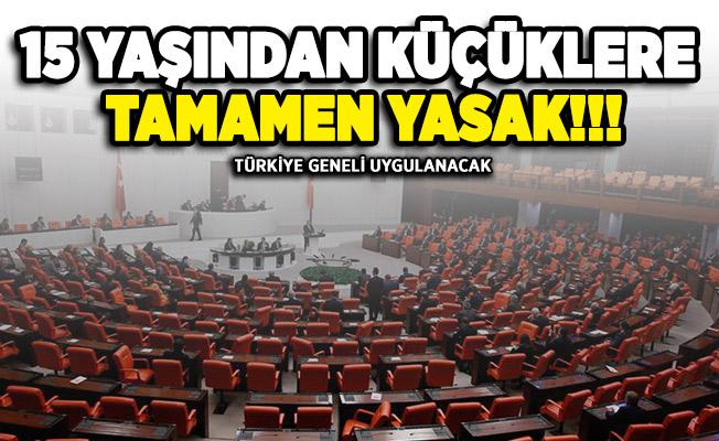 Türkiye geneli 15 yaş altına yeni yasak geliyor!