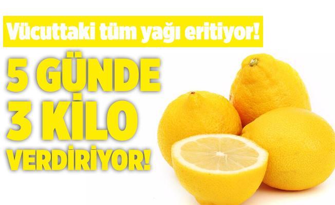 Vücuttaki tüm yağı eriten limon diyeti! 5 günde 3 kilo verdiriyor! Limon diyeti nasıl yapılıyor?