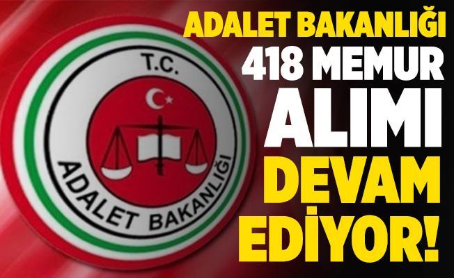 Adalet Bakanlığı 418 memur alımı devam ediyor! Başvurular 25 Kasım tarihinde sona eriyor!
