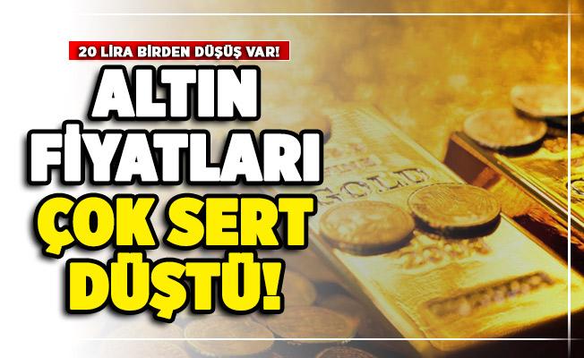 Altın fiyatları çok sert düştü! Altında 20 lira birden düşüş var