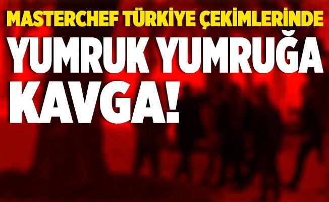 Bursa'da MasterChef çekimleri öncesinde şoke eden kavga! Yumruk yumruğa birbirine girdiler!