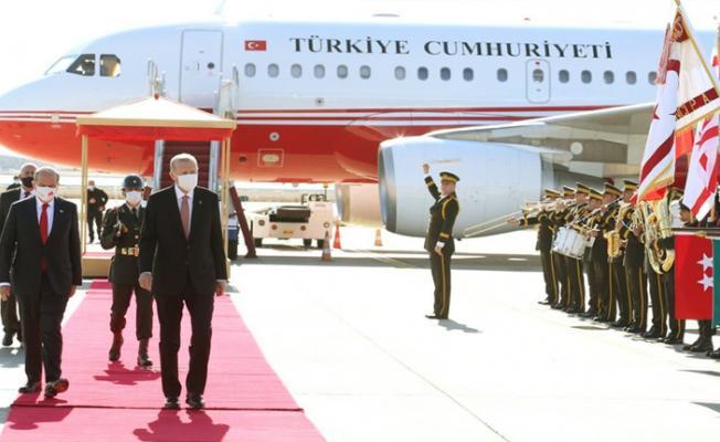 Cumhurbaşkanı Erdoğan'ın Kıbrıs'a 6 uçak ile gitmesi tepkilere neden oldu!