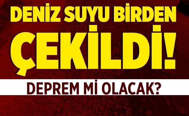 İstanbul'da deniz suyu birden çekildi! Deprem mi olacak? Açıklama geldi!