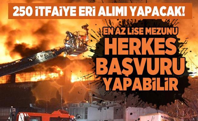 İstanbul Büyükşehir Belediye Başkanlığı 250 İtfaiye eri alımı yapacak! En az lise mezunu herkes başvuru yapabilir