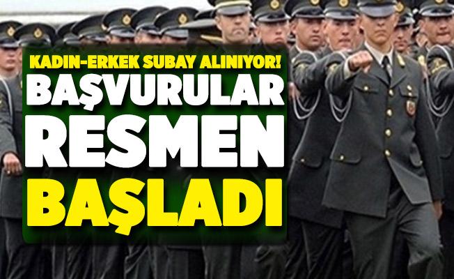 MSB kadın erkek subay alımı başvuruları başladı!