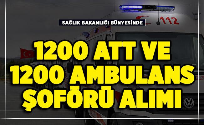 Sağlık Bakanlığı 1200 ATT, 1200 ambulans şoförü alımı bekleniyor!