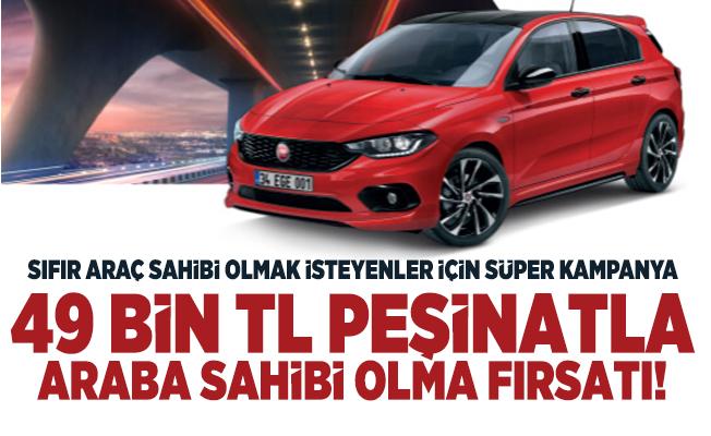 Sıfır araç sahibi olmak isteyenler için süper Fiat otomobil kampanyası!