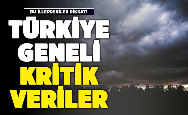 Türkiye geneli için kritik veriler açıklandı! Bu illerde yaşayanlar dikkat