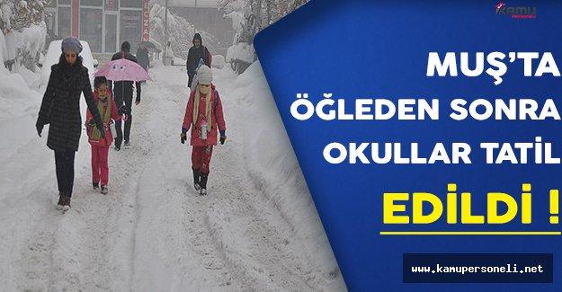 26 Aralık 2016 Muş'ta Kar Yağışından Dolayı Eğitime Ara Verildi