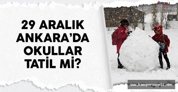 29 Aralık Perşembe Ankara'da okullar tatil mi MEB açıklaması bekleniyor