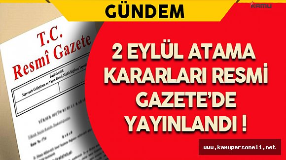 Merkez Bankası ve 3 Diğer Bakanlık İçin Atama Kararları Resmi Gazete'de !