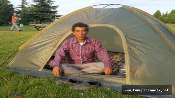 3 Gündür Çadırında Demokrasi Nöbeti Tutuyor