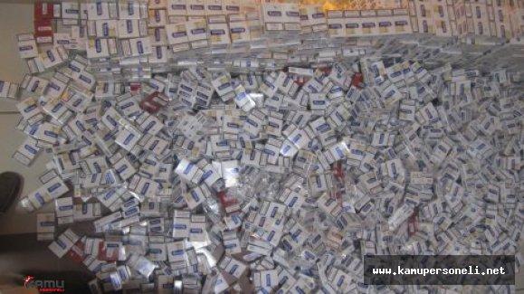 3 milyon 950 Bin Kaçak Sigara İmha Edildi