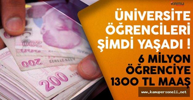 6 milyon üniversite öğrencisine ayda 1300 TL müjdesi