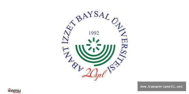 Abant İzzet Baysal Üniversitesi Sözleşmeli Personel Alım İlanı 2016