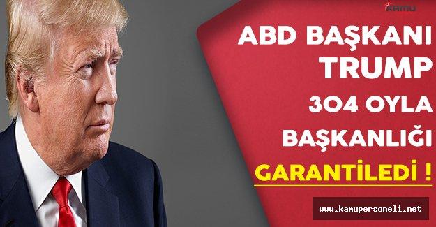 ABD'nin Seçilmiş Başkanı Trump 304 Oyla Başkanlığını Garantiledi