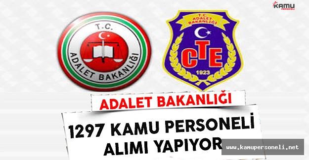 Adalet Bakanlığı 1297 Kamu Personel Alımı Yapıyor