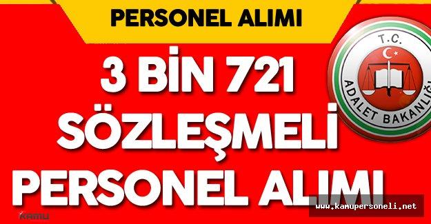 Adalet Bakanlığı 3 Bin 721 Sözleşmeli Personel Alımı ( Şoför, İnfaz Koruma Memuru, Büro Personeli) Yapacak