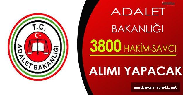 Adalet Bakanlığı 3800 Hakim ve Savcı Alımı Yapacak