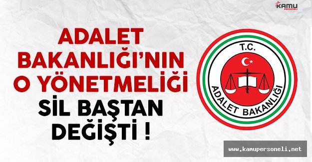 Adalet Bakanlığı Memur Sınavı, Atama ve Nakil Yönetmeliği Değişti