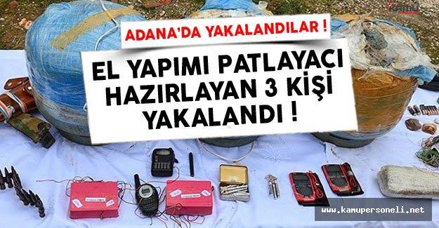 Adana'da El Yapımı Patlayıcı Yapanlar Yakalandı