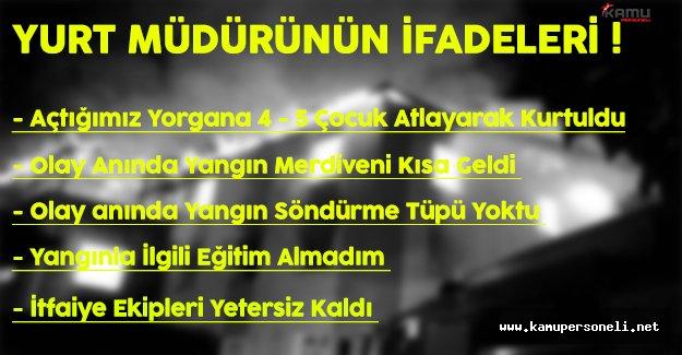 Adana Kız Öğrenci Yurdu Müdürünün İfadesi Yayınlandı !