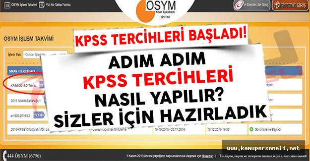 Adım Adım KPSS Tercihleri Nasıl Yapılır? Resimli Anlatım