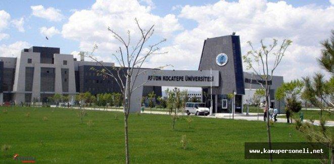 Afyon Kocatepe Üniversitesi Sözleşmeli Personel Alımı