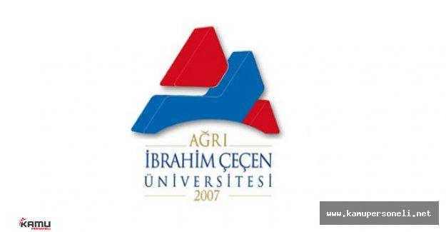 Ağrı İbrahim Çeçen Üniversitesi Akademik Personel Alımı İlanı