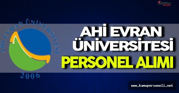 Ahi Evran Üniversitesi Personel Alımı