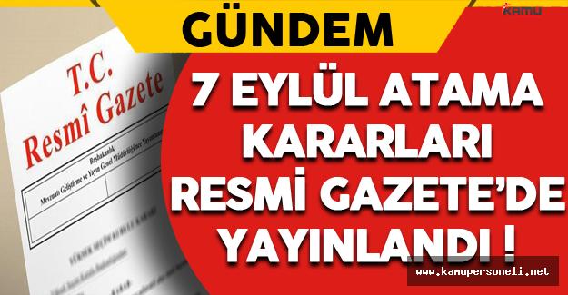 Aile ve Sosyal Politikalar Bakanlığı ve Diğer 3 Bakanlık İçin Atama Kararları Resmi Gazete'de !