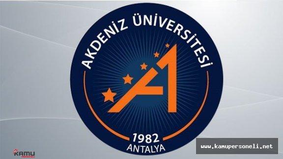 Akdeniz Üniversitesi Akademik Personel Alımı İlanı