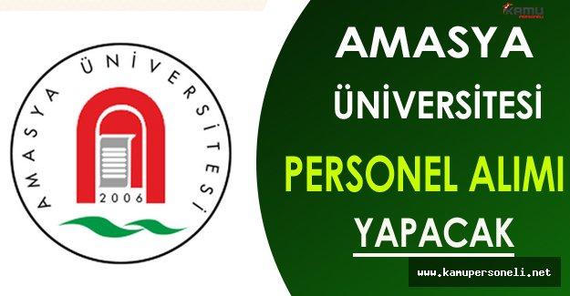 Amasya Üniversitesi Personel Alımı Yapıyor